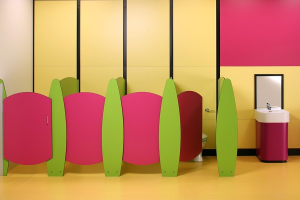 Frutti cubicle - green and pink
