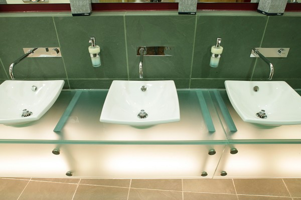 Glass vanities