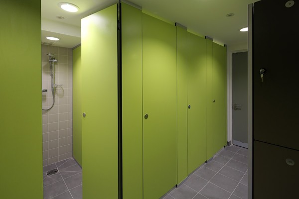 Marcato shower cubicle in lime green