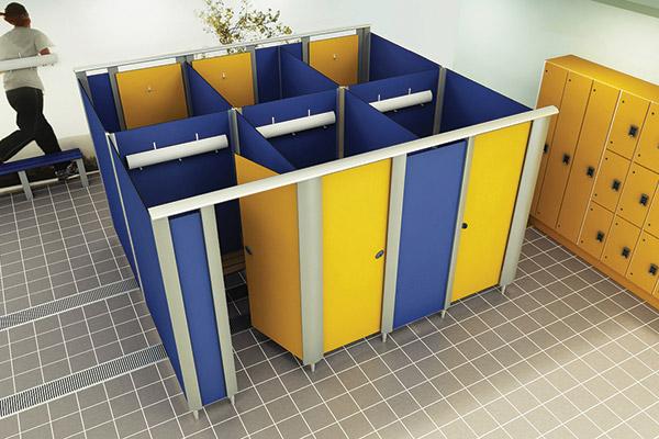 Mezzo changing cubicle