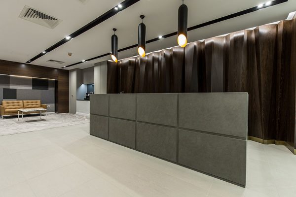 Reception desk - specialist joinery