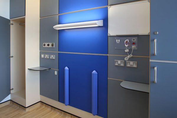 Bespoke bedhead - North Middlesex University Hospital London