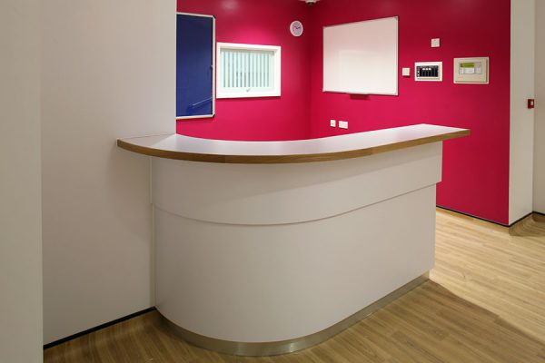 Reception desk – North Middlesex University Hospital London
