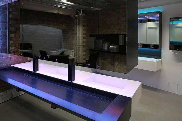 Dolphin Dispensers showroom in Clerkenwell