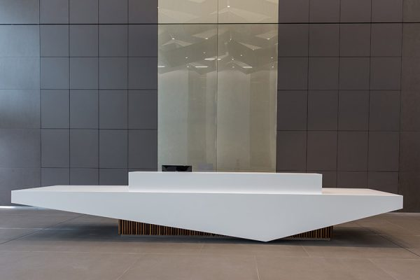 Reception desk at The Bower in Stockley Park