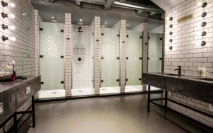 Luminoso glass shower cubicles with saloon style doors