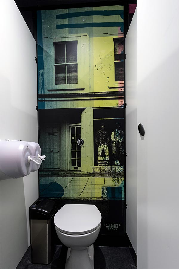 Cubicles with specialist graphic printed duct panels - Borderline Soho