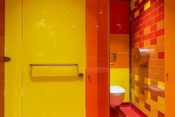 Luminoso Glass Toilet Cubicles - Gymbox London