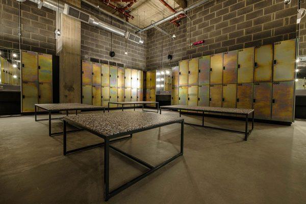 Bespoke lockers at Gymbox, Ealing