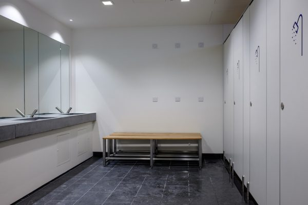 Bench and shower area – Parnell House