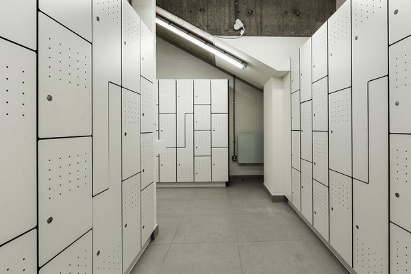 Forza solid grade laminate lockers - International House
