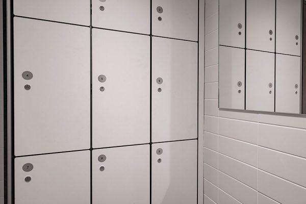 Forza lockers at Principal Tower