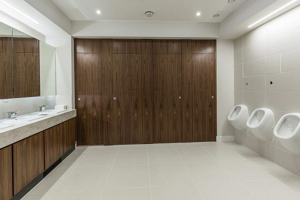 Real wood veneer cubicles - Carpenters' Hall, London