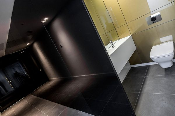 Alto gloss laminate toilet cubicles - Weston House
