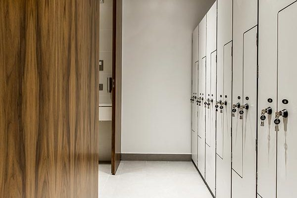 Solid grade laminate Forza lockers in white - The Bower