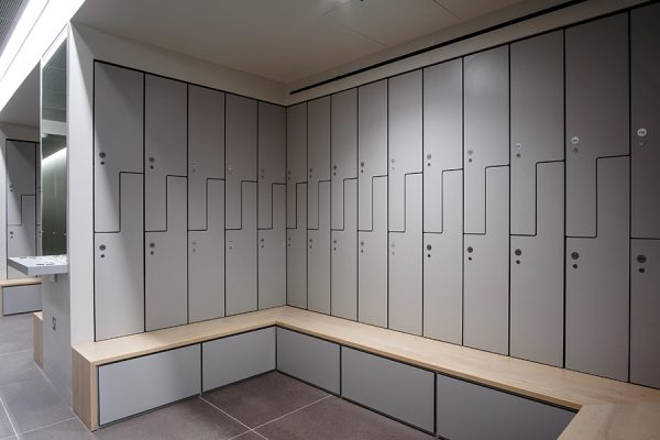 Z style Forza solid grade laminate lockers in grey - 4 Kingdom Street