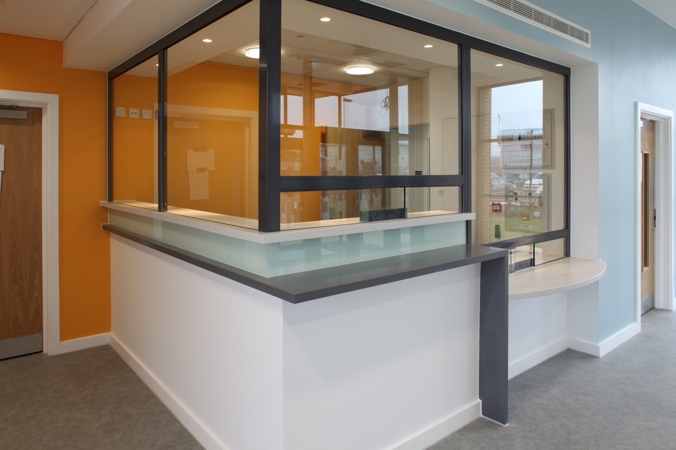 Secure Accommodation charge desks at Wymondham police station