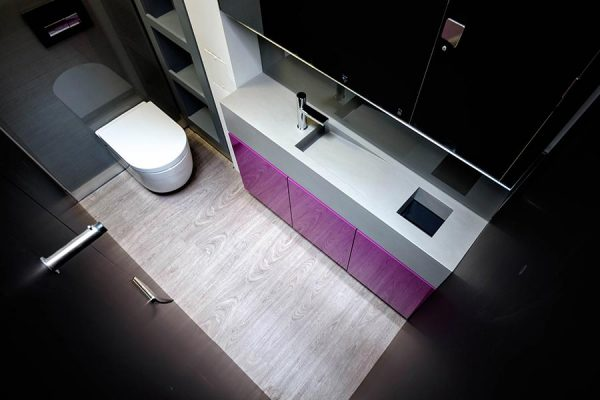 Showroom toilet cubicle