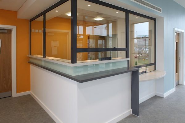 Reception desk - Wymondham Police Station