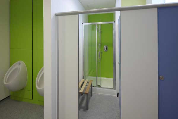Mezzo shower and changing cubicles - Wymondham Police Station