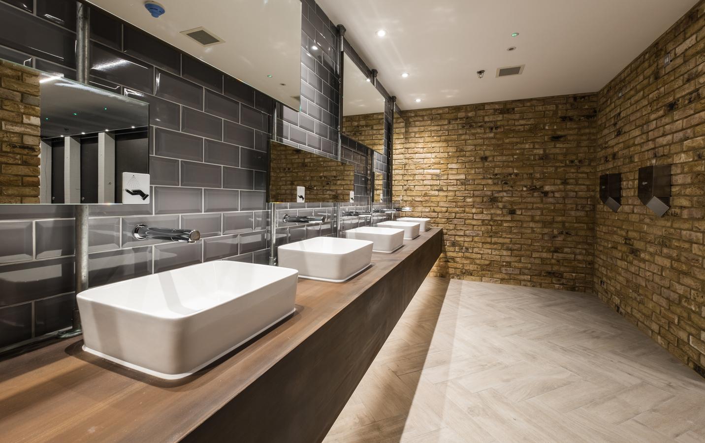 Camden Market industrial chic washrooms