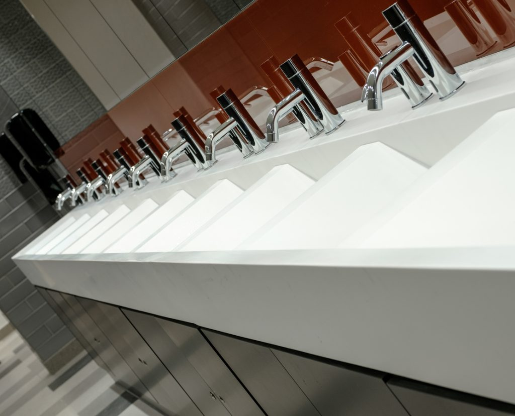 Corian wave effect vanities