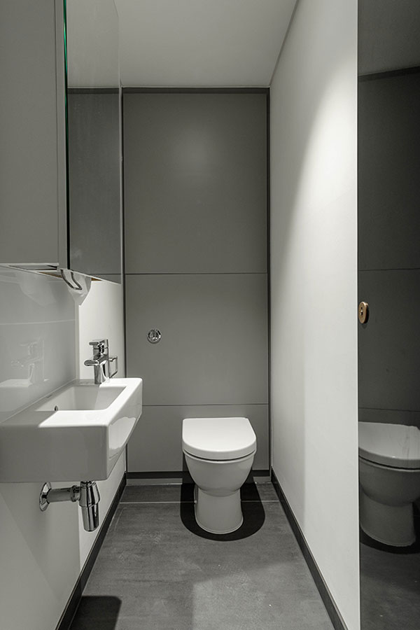 Stylish new washrooms and reception area at Capco, Covent Garden