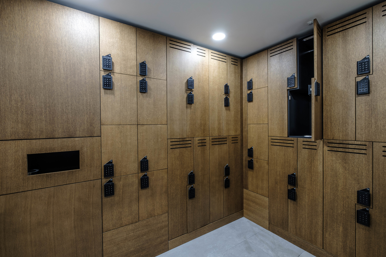 Real wood Octave lockers