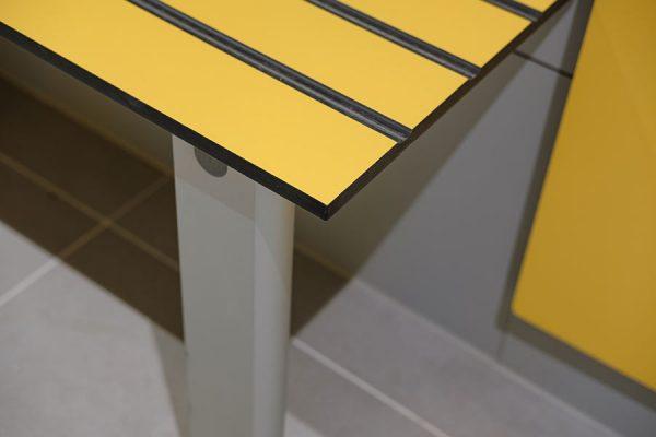 Legato yellow solid grade laminate benching
