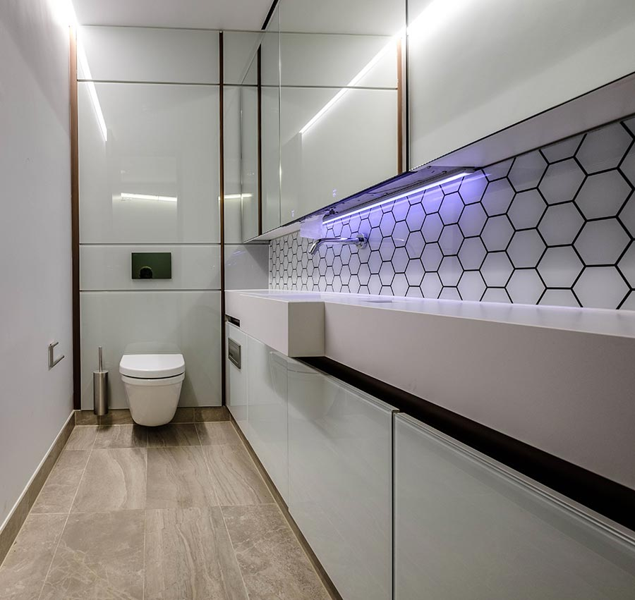 Modern white superloo