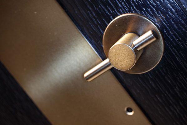 Locks manufactured using anodised bronze - 133 Houndsditch