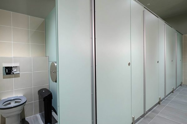 Marcato toilet cubicles at Third Space Islington