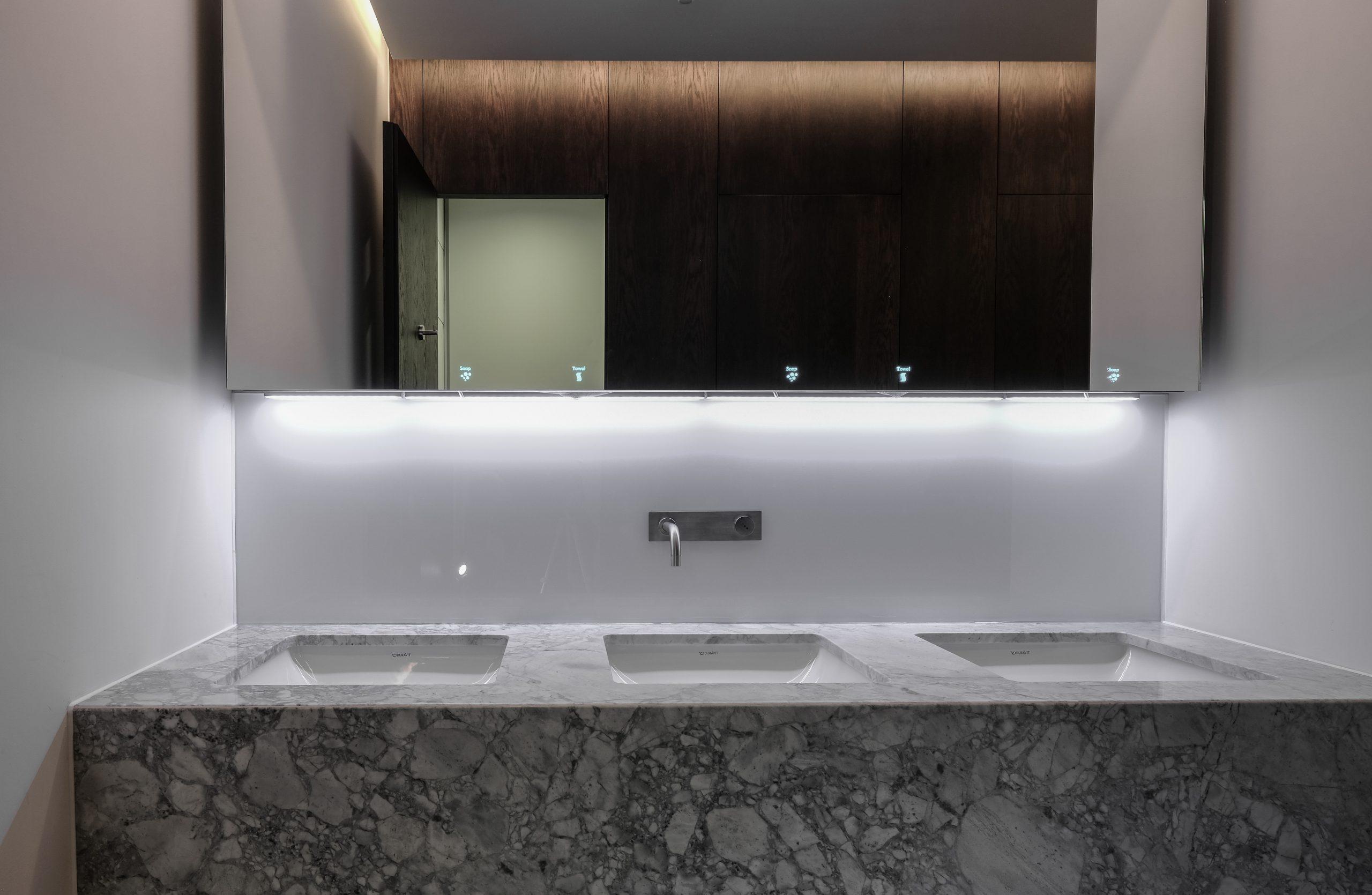 Holborn mock-up washroom full sized