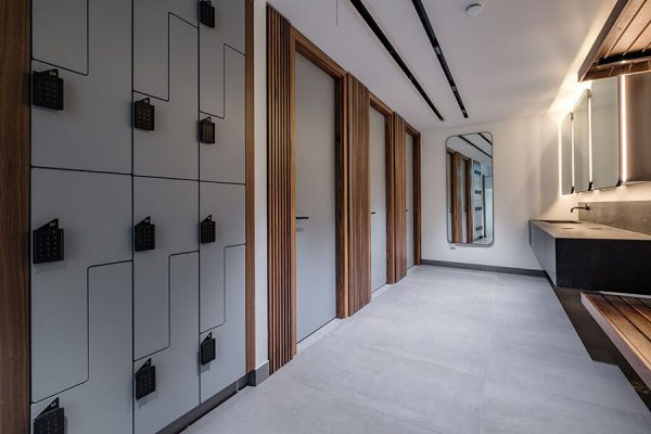 Forza solid grade laminate lockers at Sherbourne House