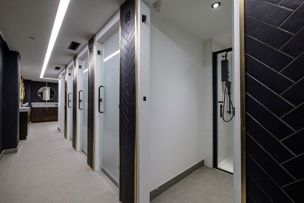 Luminoso glass shower cubicle doors - One Kingsway