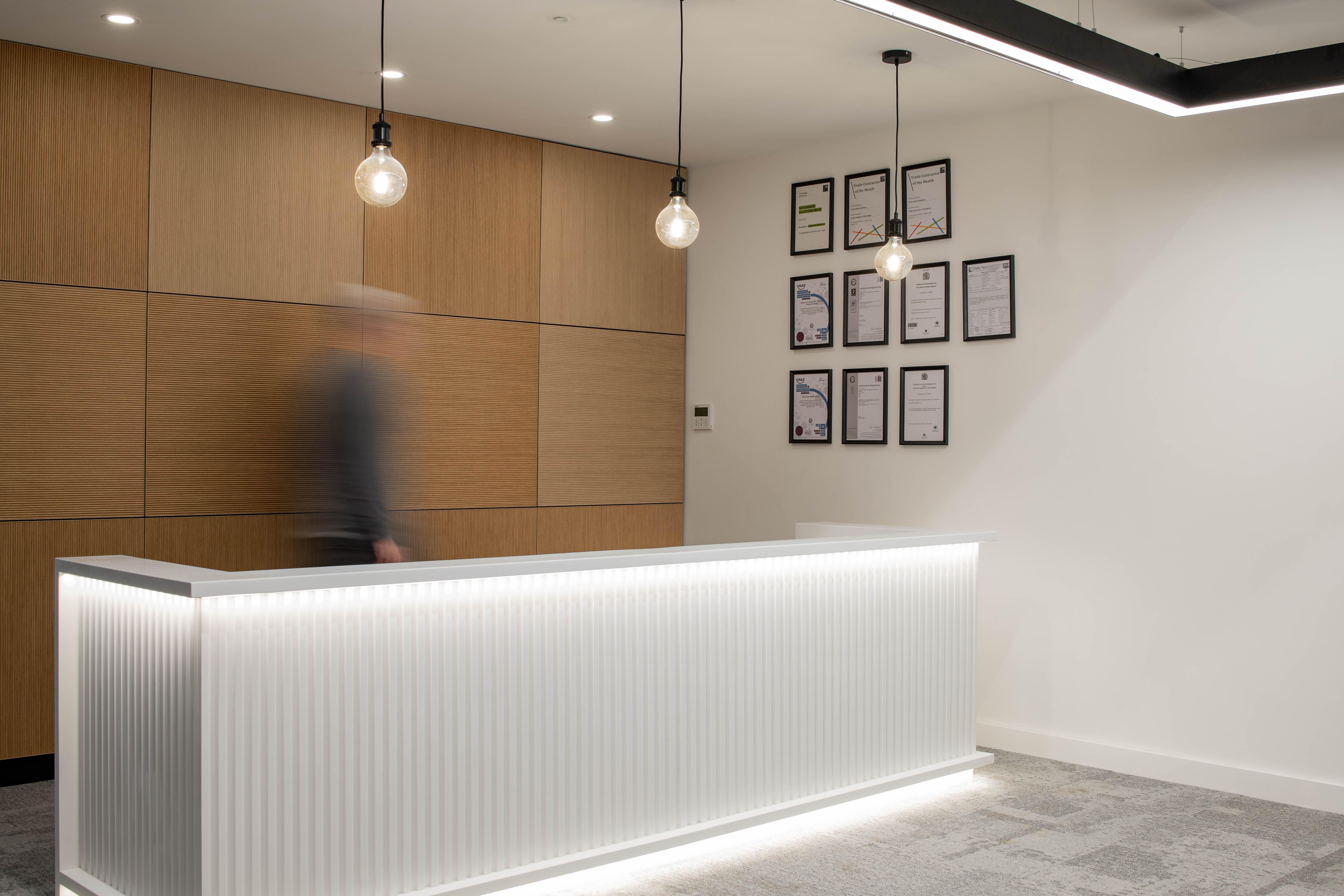 Washroom HQ reception area